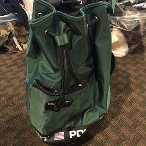 Vintage Polo Sport Green Bucket Bag